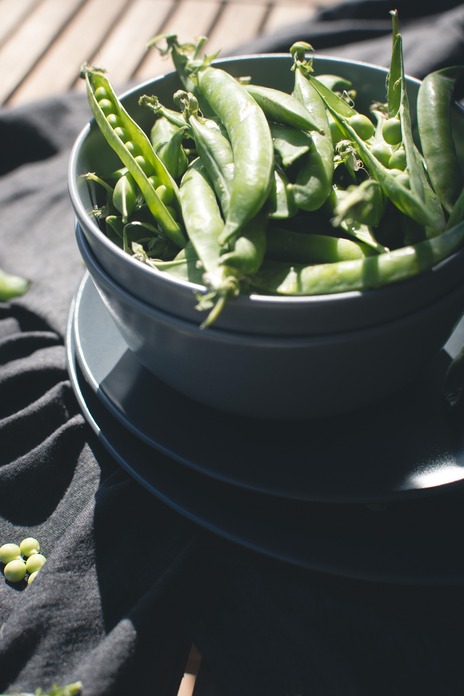 Fresh pea outside