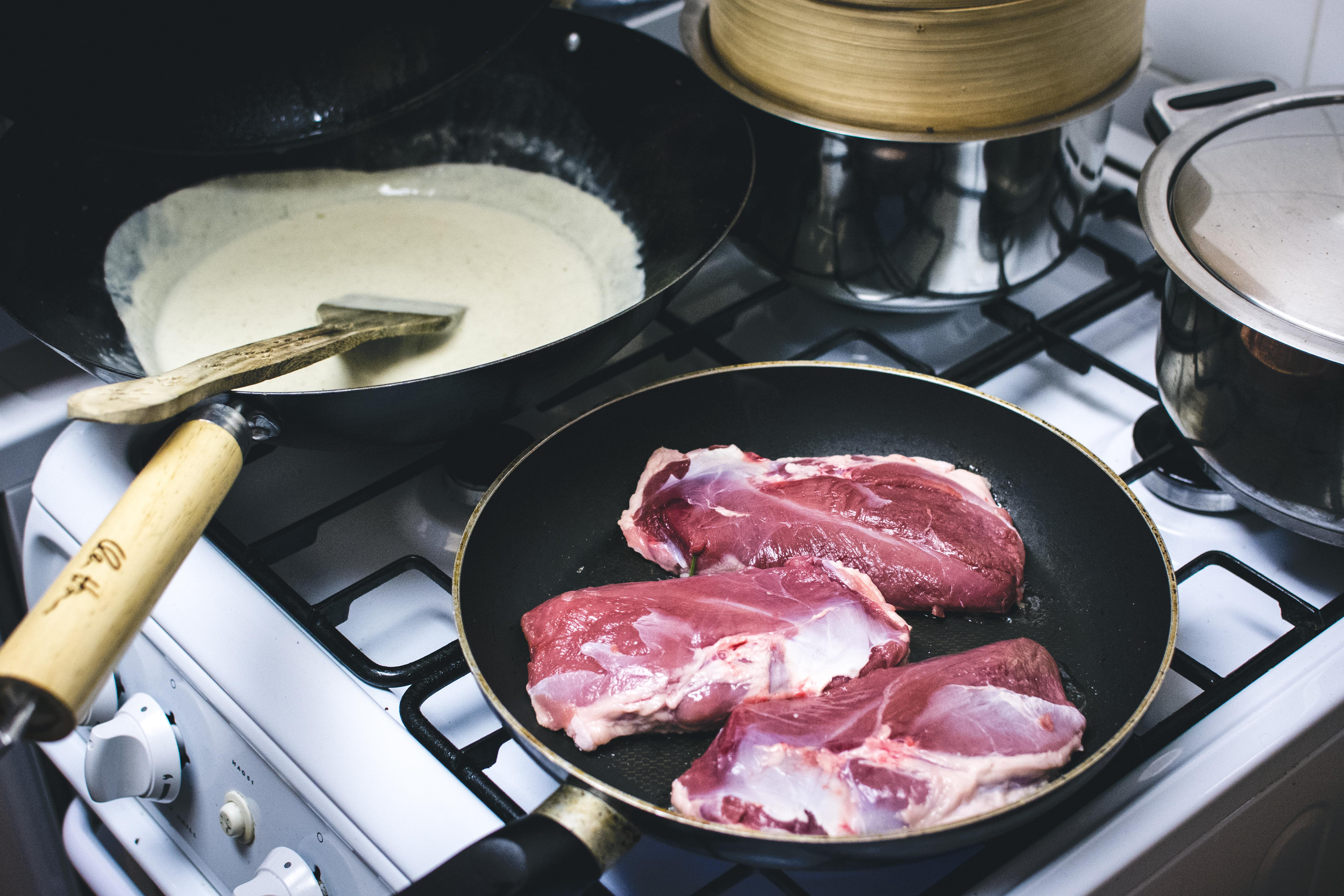 Frying medium duck breast
