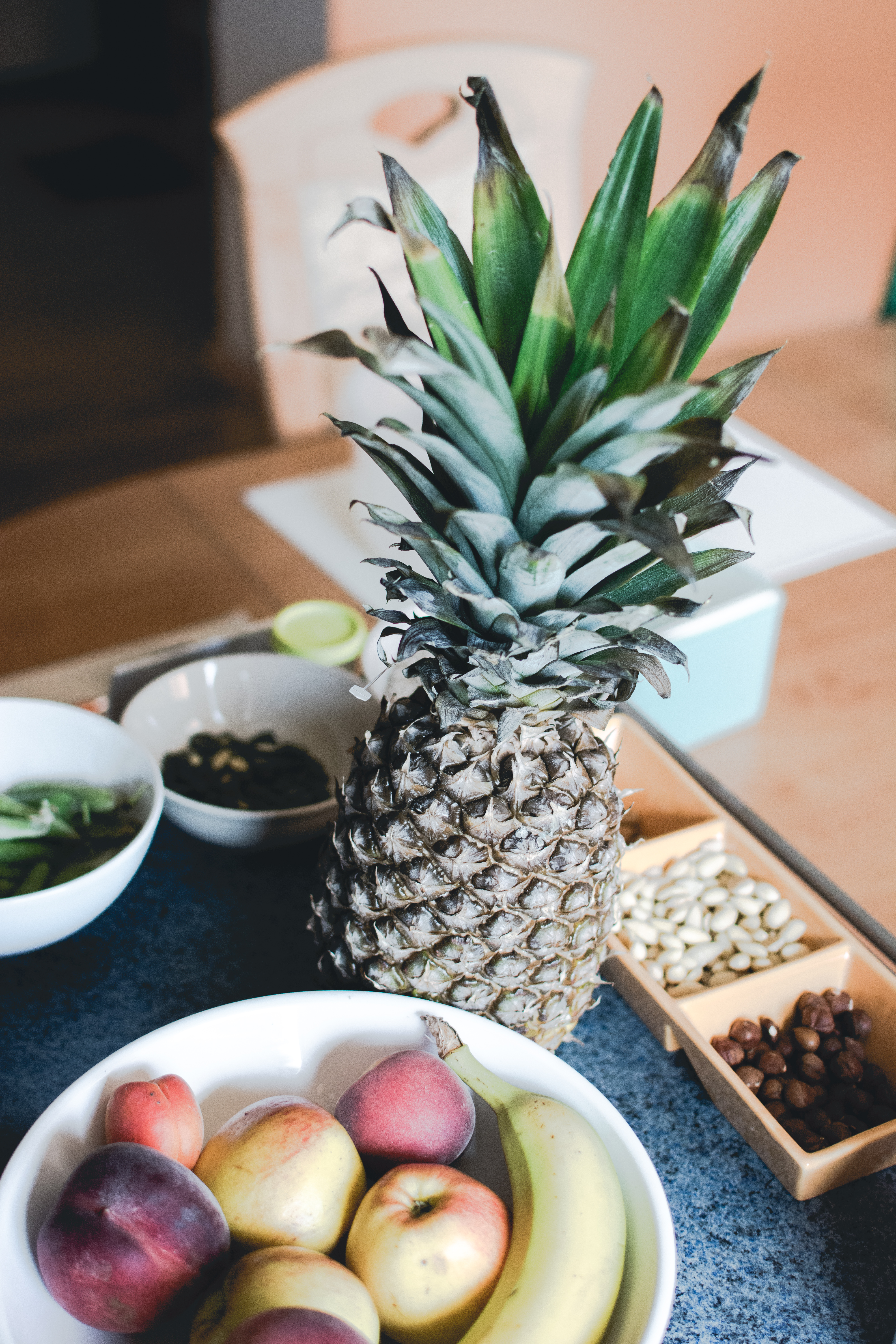 Pineapple in a kitchen