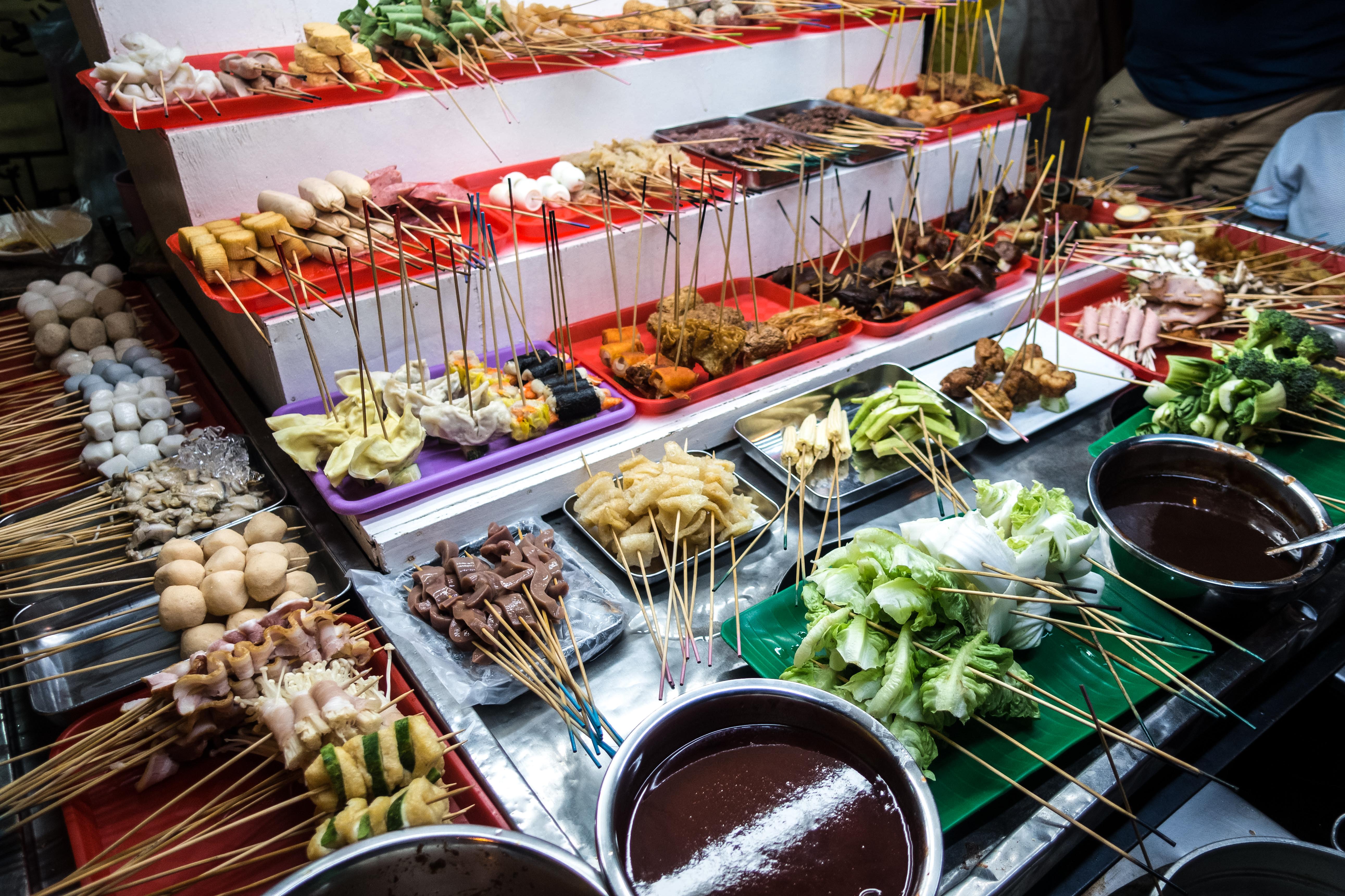 Malaysian Lok Lok hot pot ingredients