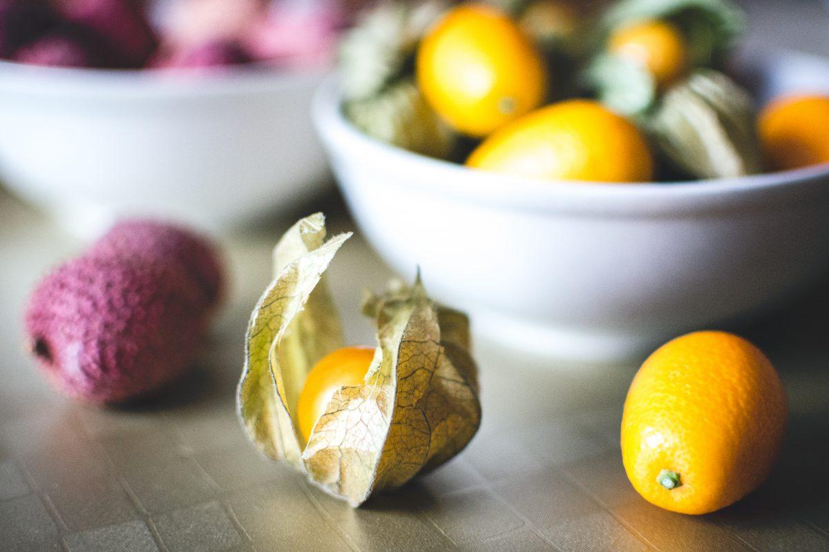 Kumquats and litchi